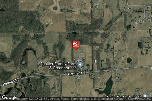 Location Map for Fusilier Family Farms and Greenhouse