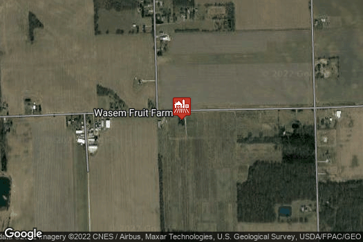 Location Map for Wasem Fruit Farm