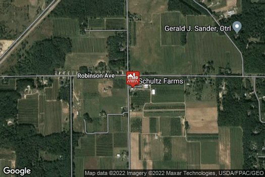 Location Map for Schultz Fruitridge Farm, Inc.
