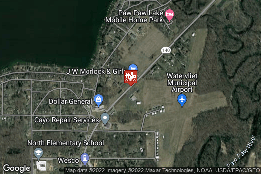 Location Map for J.W. Morlock & Girls LLC