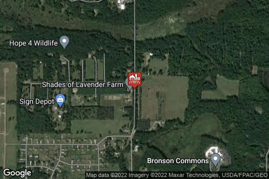 Location Map for Shades of Lavender Farm