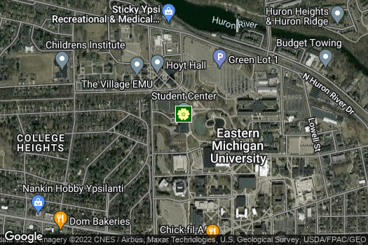Location Map for Eastern Michigan University