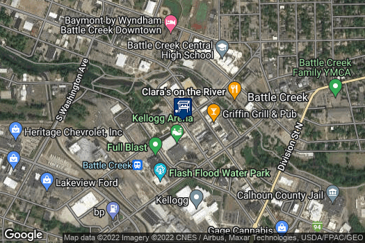 Location Map for Battle Creek Farmers Market at Festival Market Square