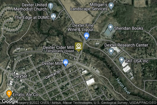 Location Map for The Dexter Cider Mill