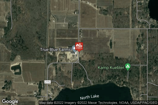 Location Map for True Blue Farms Country Store and U-Pick