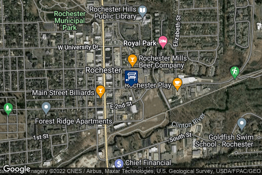 Location Map for Downtown Rochester Farmers Market