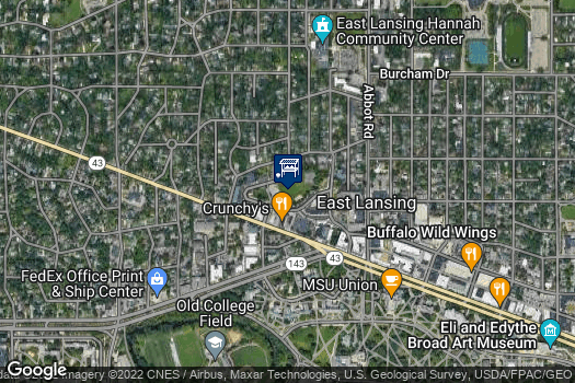 Location Map for East Lansing Farmers Market