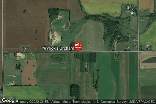 Location Map for Wyrick's Orchard