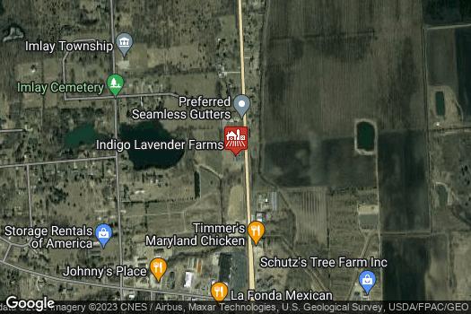 Location Map for Indigo Lavender Farms