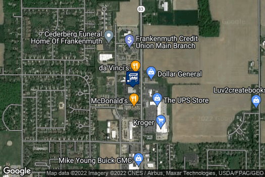 Location Map for Frankenmuth Farmers Market