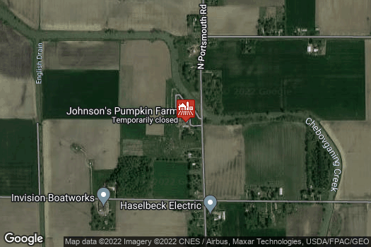 Location Map for Johnson's Giant Pumpkins, LLC