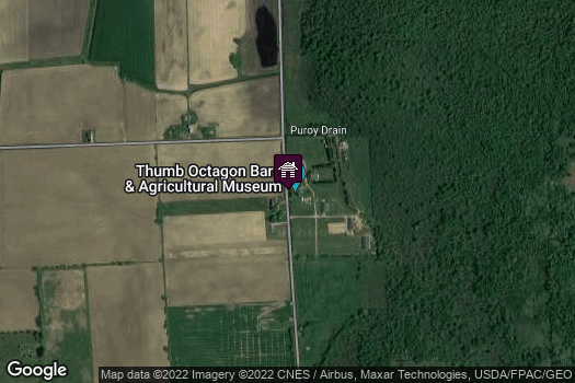 Location Map for Thumb Octagon Barn