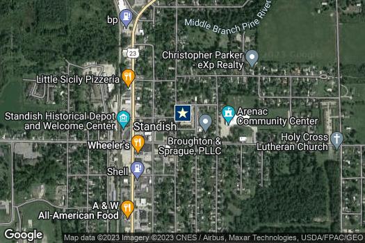 Location Map for Arenac County Economic Development Corporation
