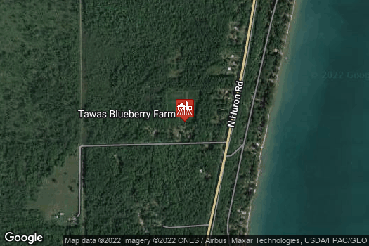 Location Map for Tawas Blueberry Farm