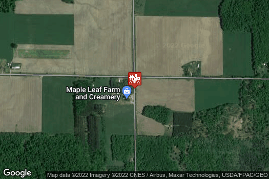 Location Map for Maple Leaf Farm & Creamery