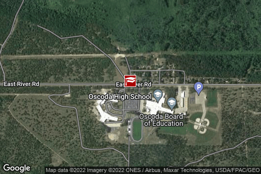 Location Map for Oscoda Middle and High School