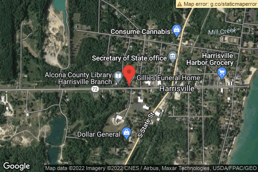Location Map for Alcona County Library