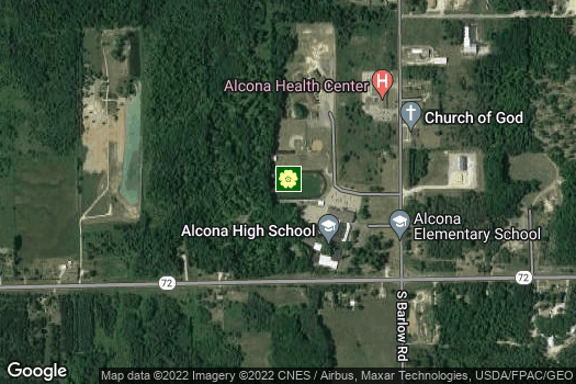 Location Map for Alcona FFA Chapter