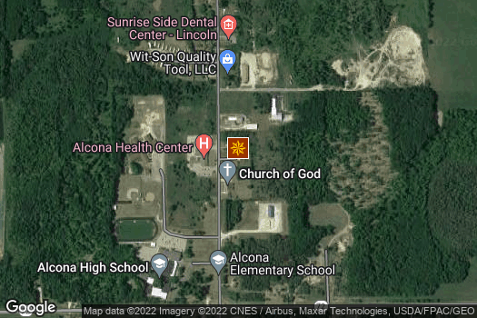 Location Map for Alcona Tool & Machine, Inc.