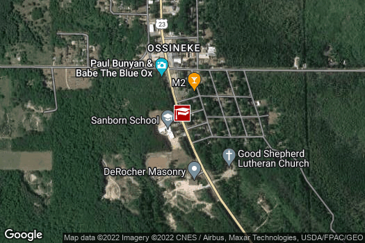 Location Map for Sanborn Elementary School