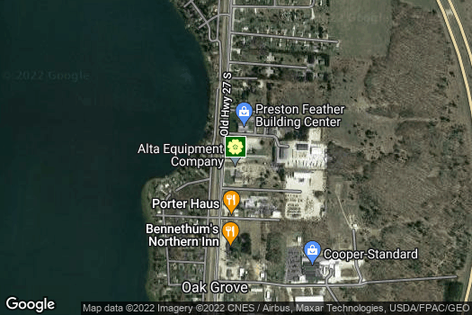Location Map for Huron Pines AmeriCorps
