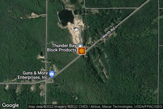 Location Map for Thunder Bay Concrete Products