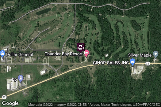Location Map for Thunder Bay Resort