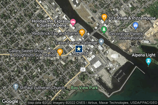 Location Map for Alpena Downtown Development Authority