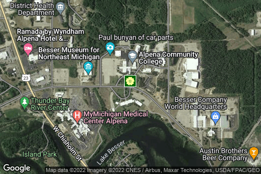 Location Map for Alpena Community College