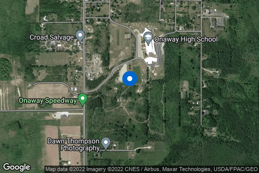 Location Map for Onaway High School Service Learning Class