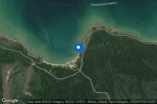 Location Map for 4-H Great Lakes and Natural Resources Campers Discover and Map Federally Threatened Pitcher's Thistle Plants of Coastal Lake Huron
