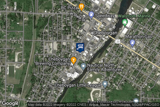 Location Map for Cheboygan Farmers Market