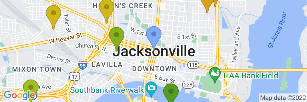 Staticmap?size=537x179&scale=2&center=jacksonville,+fl,+usa&zoom=13&markers=color:blue%7cjacksonville,+fl,+usa&markers=color:0x559f23%7c30.317308, 81.650505%7c30.291597, 81.714119%7c30.30678, 81.652565%7c30.345535, 81.725227%7c30.343311, 81.724197%7c30.352409, 81.673782%7c30.353365, 81.690231%7c30.30007, 81.638664&markers=color:0x6ba721%7c30.346272, 81.665916&markers=color:0x86b31f%7c30.287905, 81.590286%7c30.281773, 81.638206%7c30.332018, 81.666771&markers=color:0xa3be1e%7c30.318386, 81.692535%7c30.363216, 81.655624%7c30.289982, 81.650955%7c30.278633, 81.615929%7c30.301189, 81.584984%7c30.317308, 81.650505%7c30.304516, 81.732292&markers=color:0xbdc01d%7c30.276031, 81.703209%7c30.307177, 81.719833%7c30.349258, 81.652481%7c30.352833, 81.587654&markers=color:0xd2b81a%7c30.373924, 81.719376%7c30.308187, 81.696114%7c30.306967, 81.703941%7c30.331999, 81.601814%7c30.374746, 81.653572%7c30.265425, 81.630928%7c30.342989, 81.574303%7c30.277443, 81.6119%7c30.323992, 81.721054%7c30.339258, 81.66983%7c30.339989, 81.5728%7c30.370872, 81.593506%7c30.368429, 81.677513%7c30.337671, 81.685722&markers=color:0xdca219%7c30.342564, 81.7071%7c30.312162, 81.575836%7c30.341949, 81.639587%7c30.381659, 81.709381%7c30.333618, 81.736557%7c30.36887, 81.595718%7c30.336563, 81.592804%7c30.311865, 81.594048%7c30.343594, 81.637169&markers=color:0xe78817%7c30.336287, 81.716293%7c30.301737, 81.635483%7c30.343519, 81.729256%7c30.301645, 81