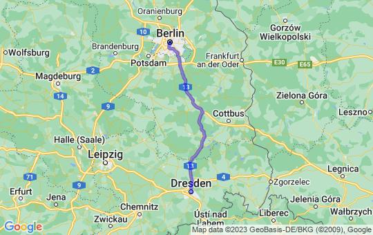 Karte von B nach D
