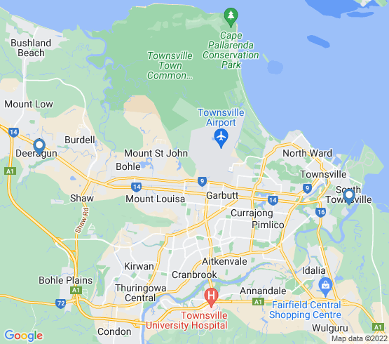 map of fishing charters in South Townsville
