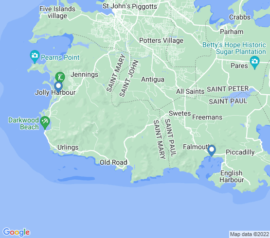 map of fishing charters in Falmouth