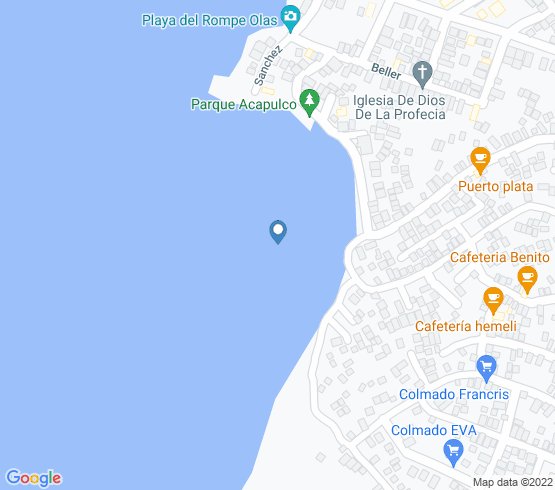 map of fishing charters in Río San Juan