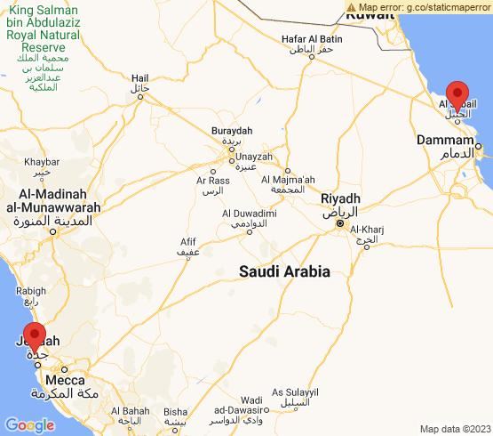 map of fishing charters in Saudi Arabia