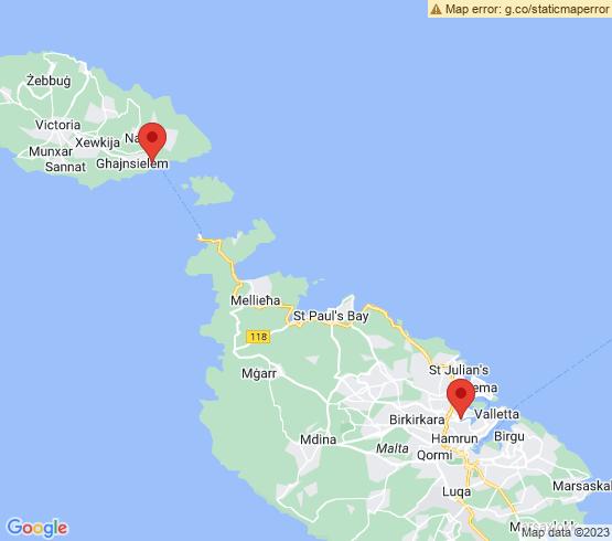 map of fishing charters in Msida