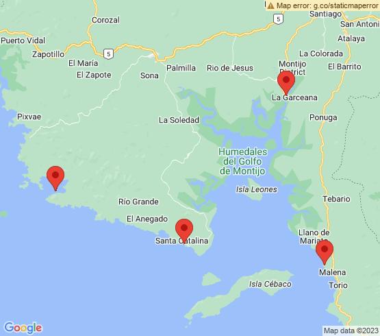 map of fishing charters in Veraguas