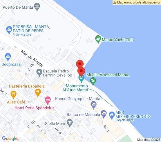 map of Manta fishing charters