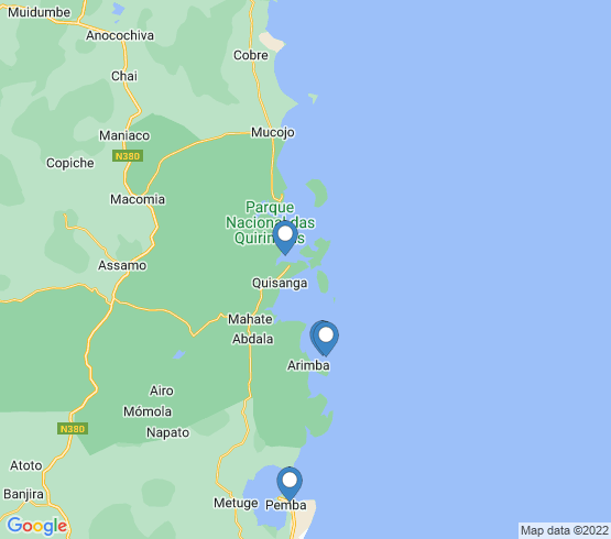map of Qussanga fishing charters