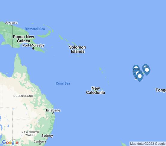 map of Fiji fishing charters