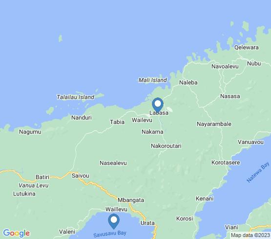 map of Labasa fishing charters