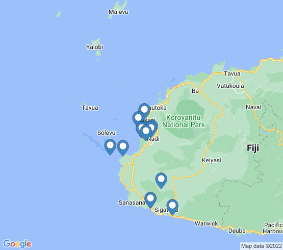 map of Denarau Island fishing charters
