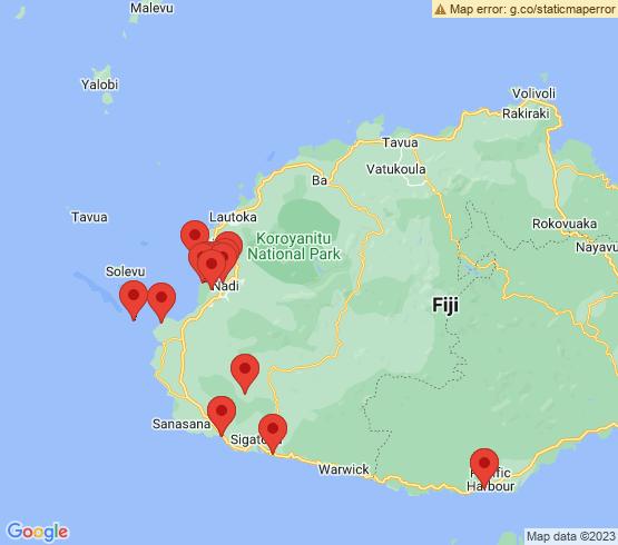 map of Sigatoka fishing charters