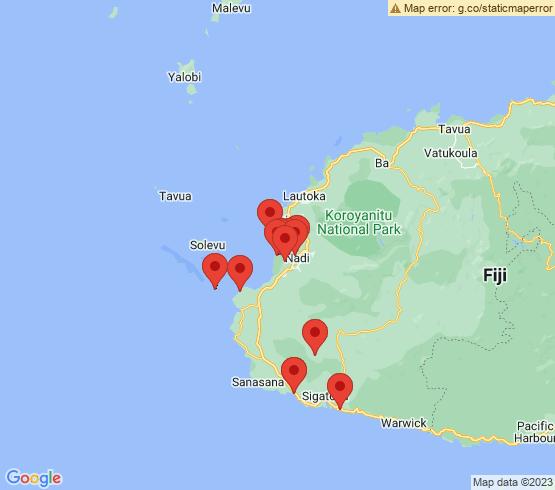 map of Nadi fishing charters