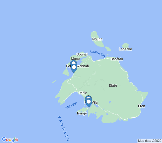 map of Vanuatu fishing charters