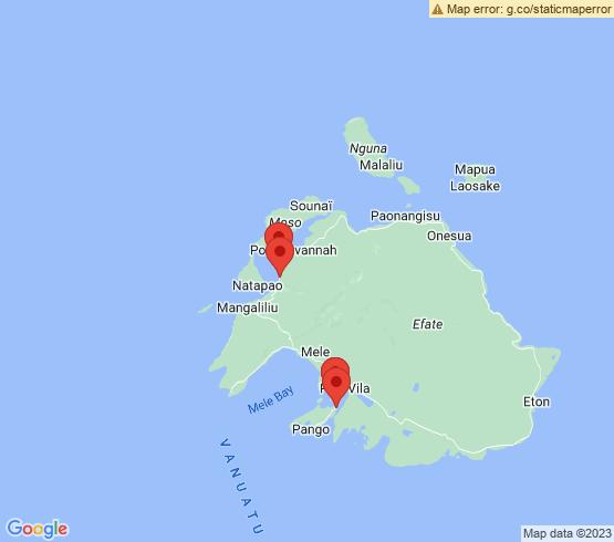 map of Vanuatu fishing charters