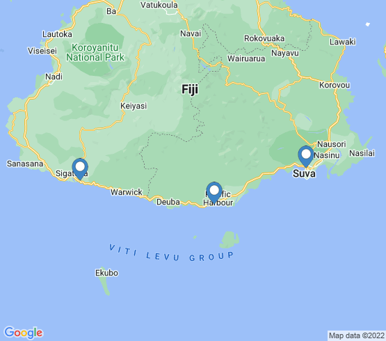 map of Pacific Harbour fishing charters